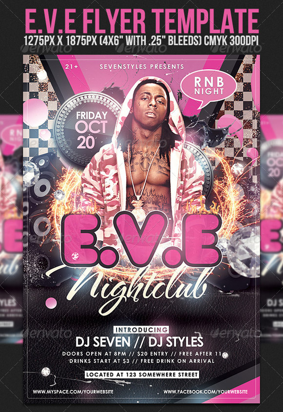 EVE Flyer Template