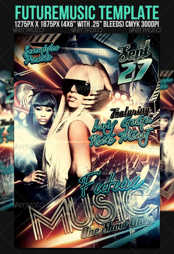 Future Music Flyer Template