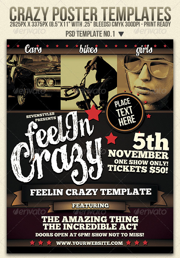 Crazy Flyer Templates