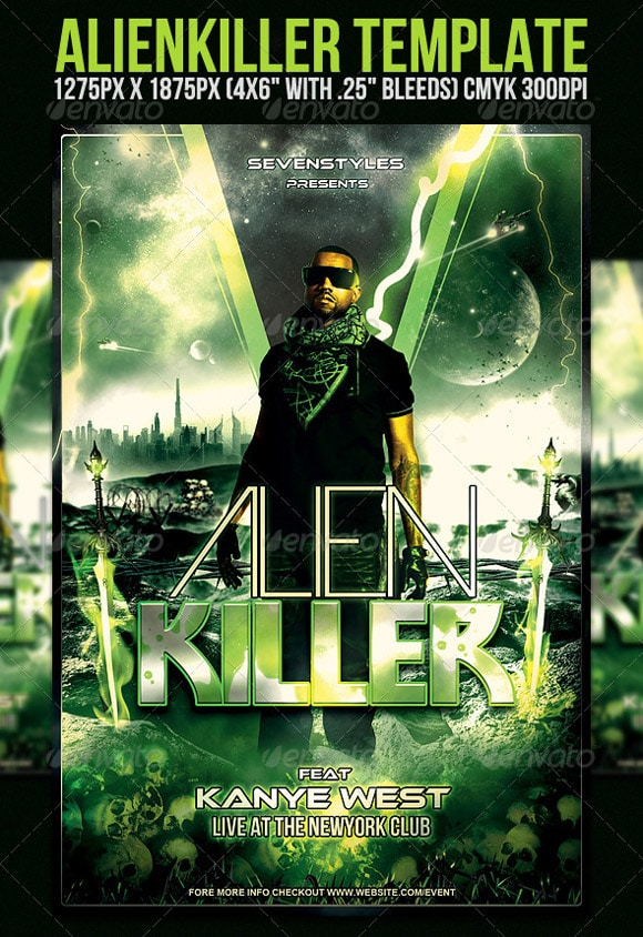 AlienKiller Flyer Template