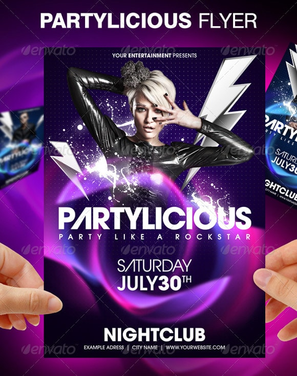 Party Flyers 40 Awesome Template Designs Designrfix Com