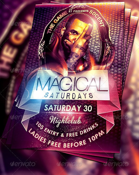 Magical Saturdays Flyer Template Vol.2