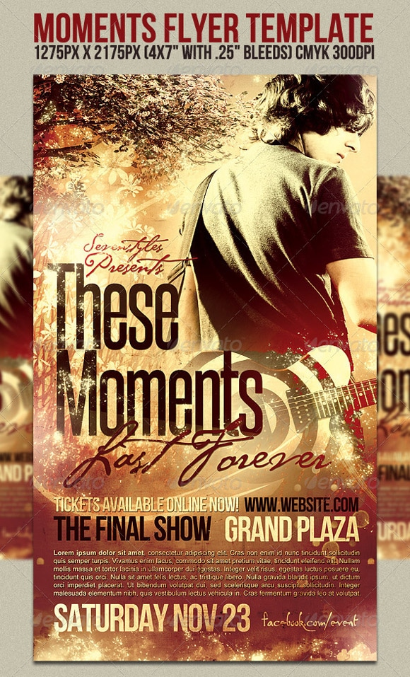 Moments Flyer Template