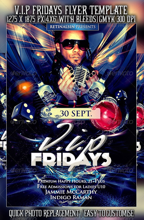 V.I.P Fridays Flyer Template
