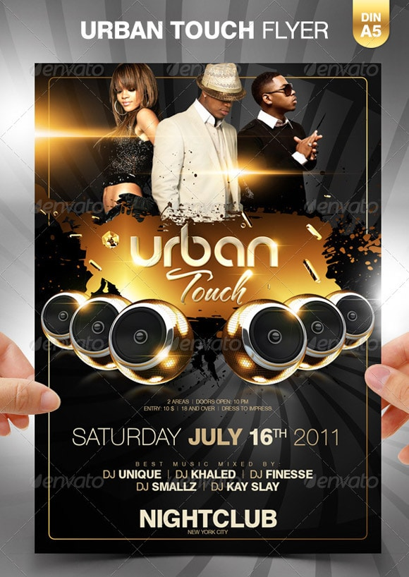Party Flyers 40 Awesome Template Designs Designrfix