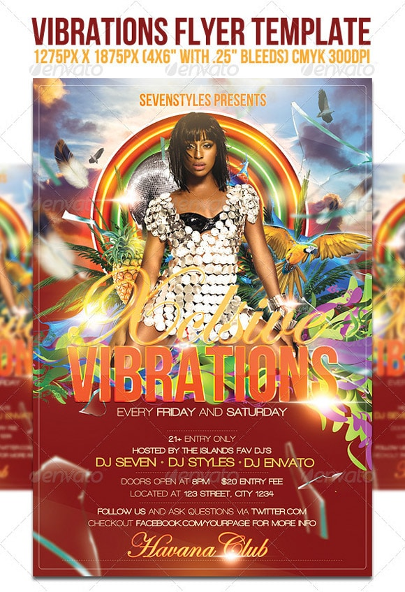 Vibrations Flyer Template