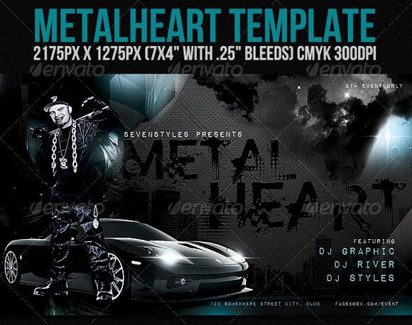 MetalHeartFlyer Template