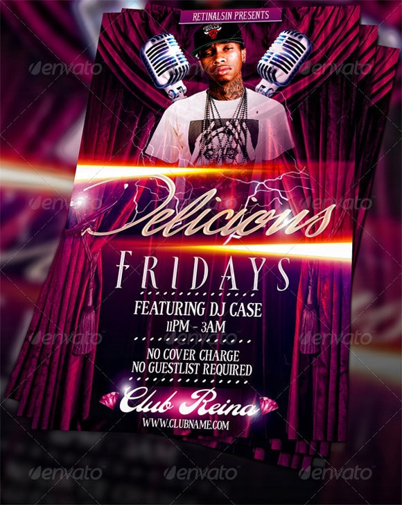 Delicious Fridays Flyer Template