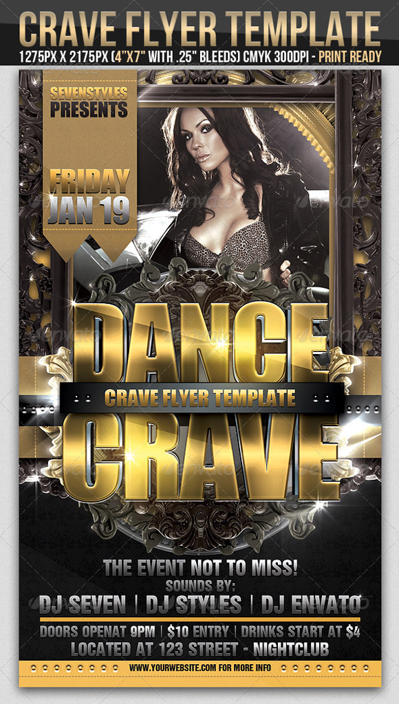 Crave Flyer Template