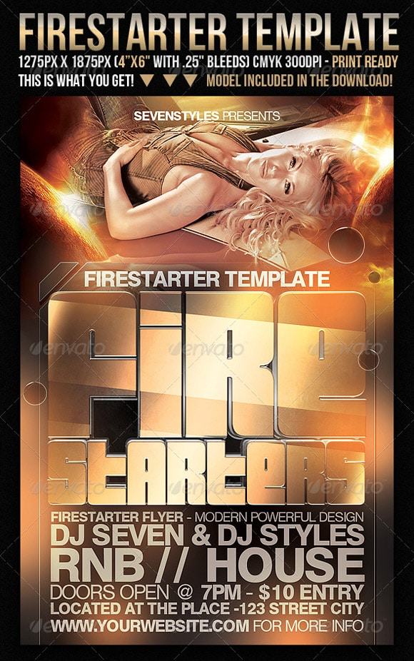 FireStarter Flyer Template