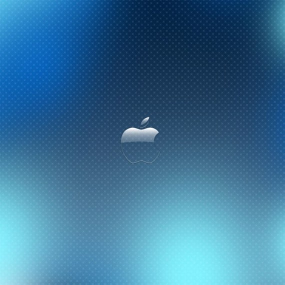 Glass Apple Logo - iPad Wallpaper