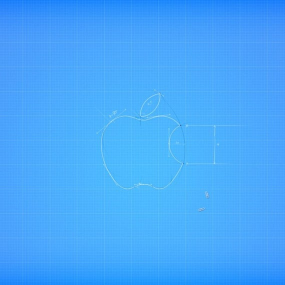 Vector Apple Logo - iPad Wallpaper