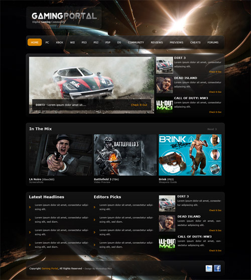 Learn To Create A Gaming Layout In Photoshop