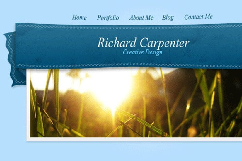 Learn To Create A Ribbon Style Header