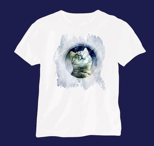 Design an Artistic Watercolor T-Shirt Design