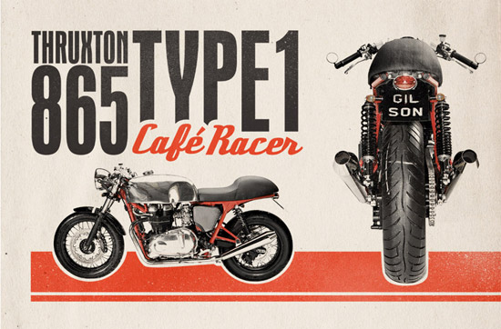 How To Create a Retro Café Racer Motorcycle Ad Design