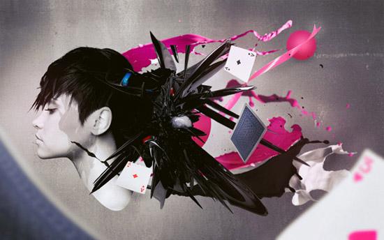 Design an Abstract Splattered Photo Manipulation