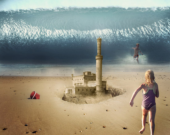 Create an Epic Beach Disaster Scene