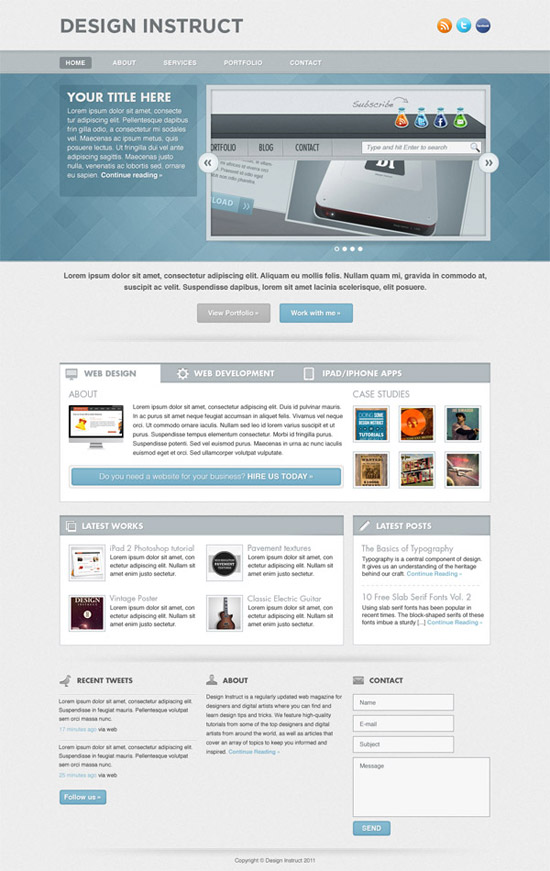 Create a Light Textured Web Design in Photoshop