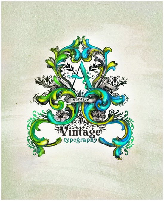 Vintage Typography Tutorial using Ornamental Styles