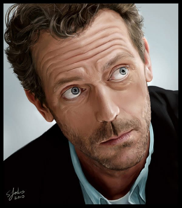 Digital Portrait - Hugh Laurie