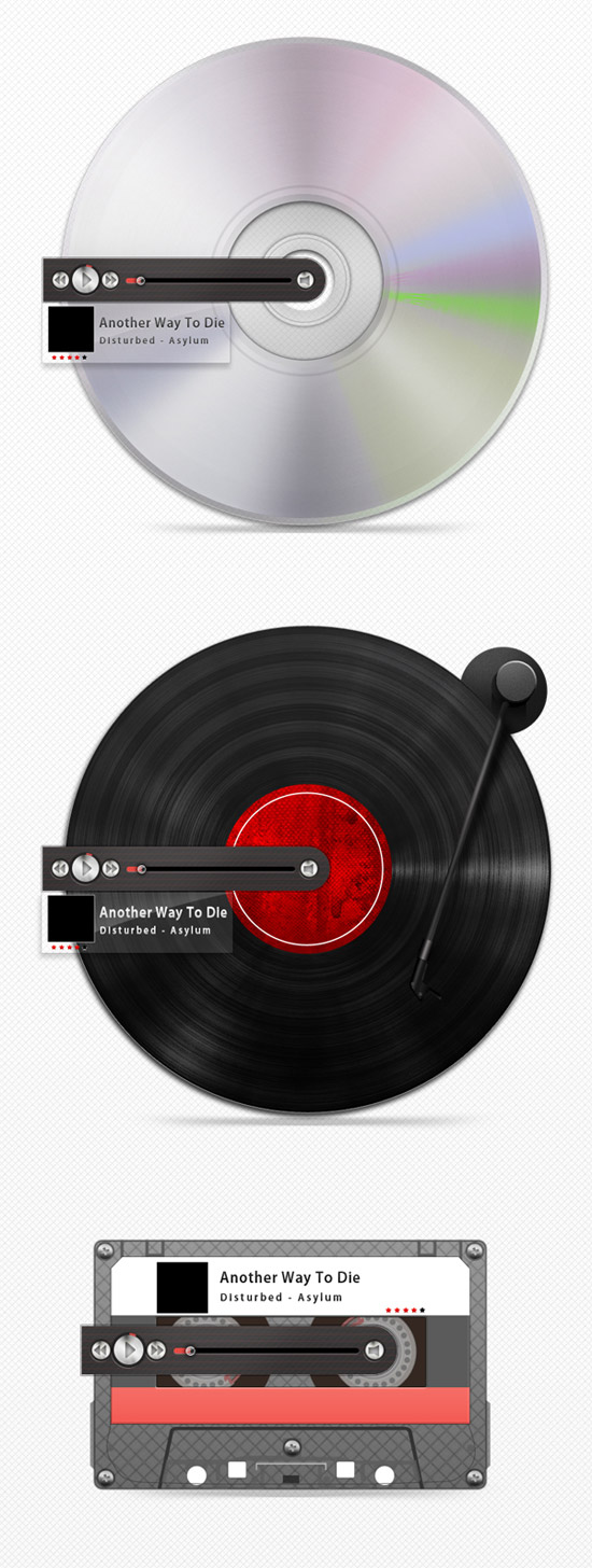 Create 3 Retro MP3 Players in Photoshop