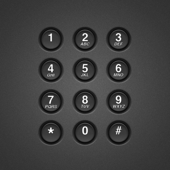 Create a Realistic Telephone Keypad Using Layer Styles