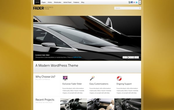 Fader - Professional WordPress Theme