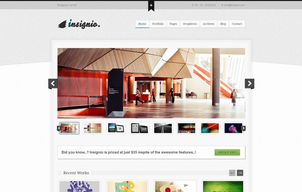 Insignio - Flip Portfolio WordPress Theme