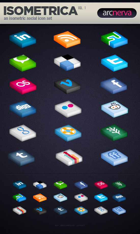 Isometrica (Volume 1): A Free Social Media Icon Set