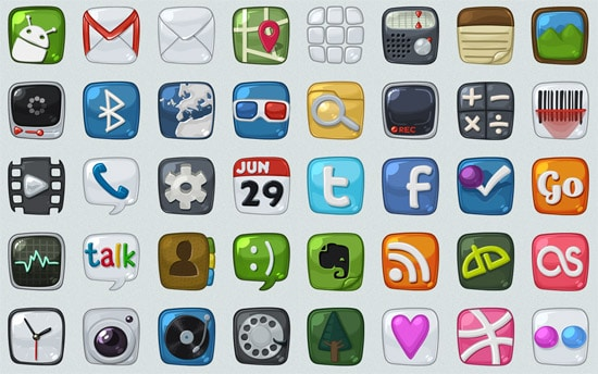 Android icons WIP by arrioch