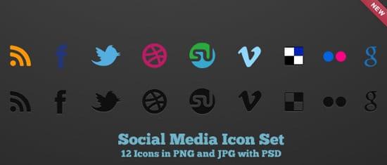 Social Media Icon Set by design deck