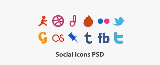 Unique Social Icons PSD