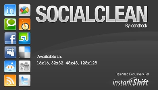 SocialClean- Free Social Network Icons