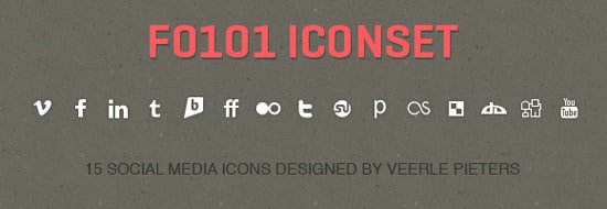 Simple & Bold Social Media Icons