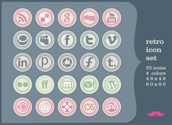 New free icon set: Retro!