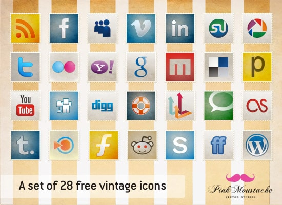 New free icon set and vintage wallpaper!