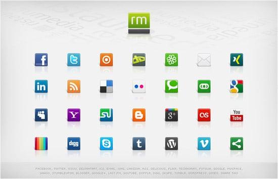 Social Media Icons - Volume 3 by ristaumedia