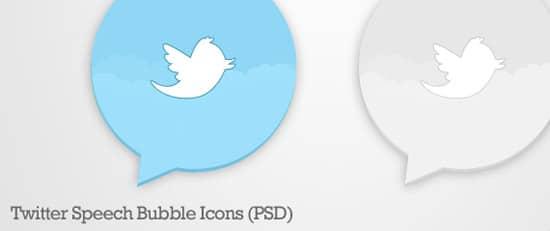 Twitter Speech Bubble Icons (PSD)