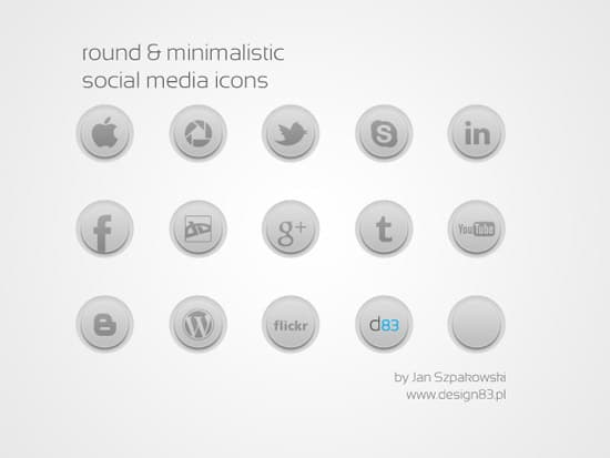 round social media icons by JanSzpakowski