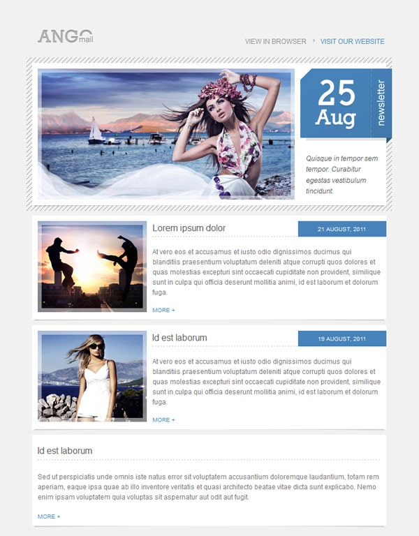Email Newsletter Templates: 40 Hand Picked Premium Designs ...