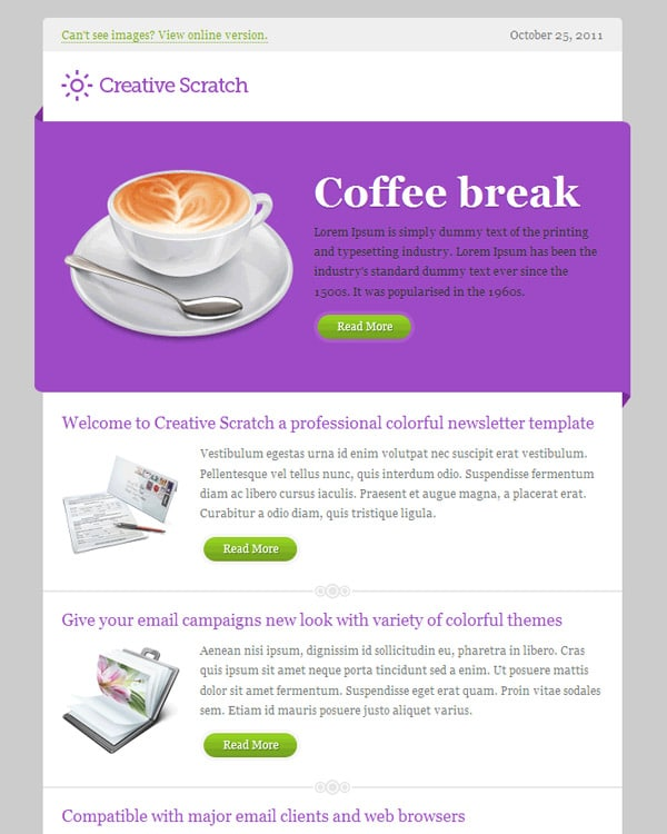 creative newsletter template besikeightyco email newsletter template