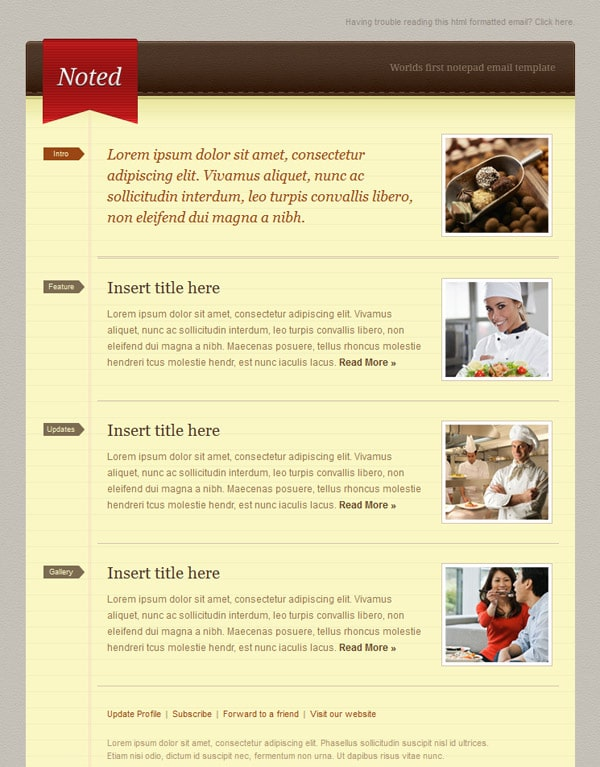 Email Newsletter Templates Hand Picked Premium Designs - Email brochure template