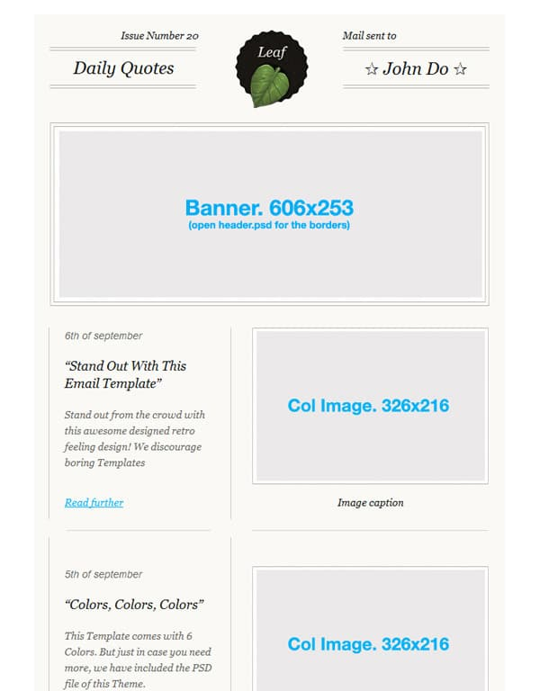 Leaf: Retro E-mail Template