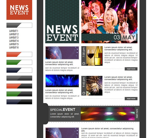 Email Newsletter Templates Hand Picked Premium Designs - E news template