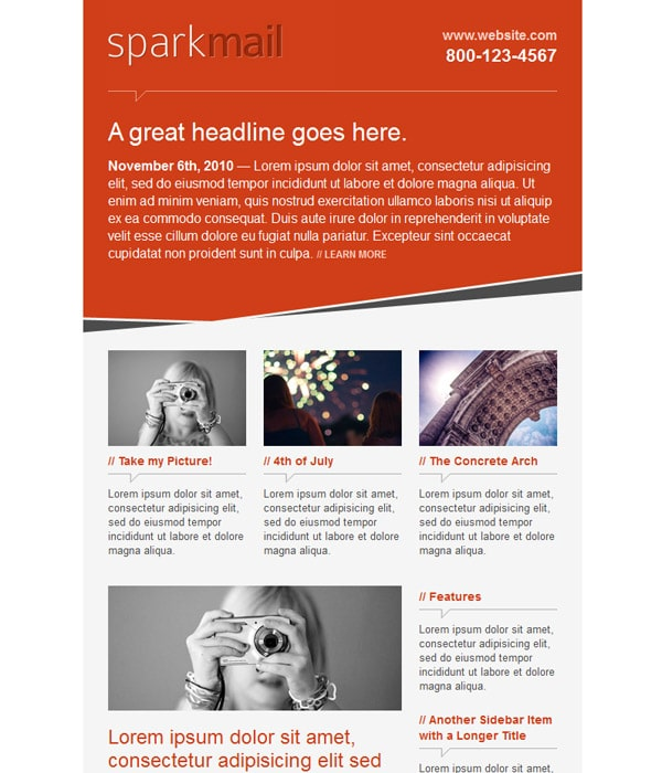 SparkMail Email Template