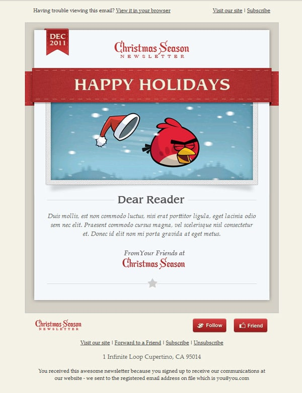 Email Newsletter. Sleek Html Email Newsletter Template The Best