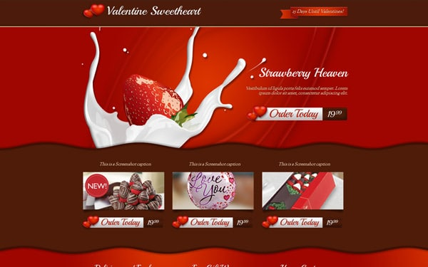 Valentine Sweetheart Landing Page
