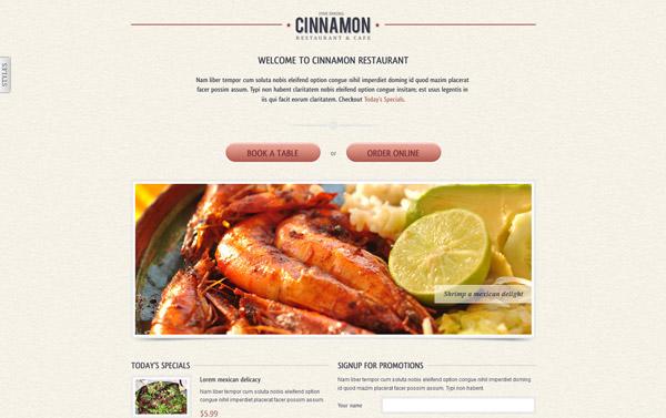 Cinnamon Landing Page