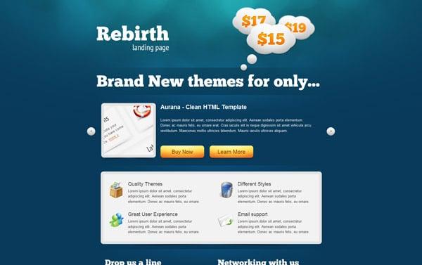 Rebirth Landing Page